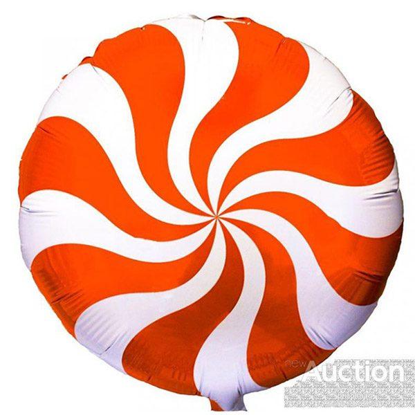 Фольгированный-шар-леденец-оранжевый