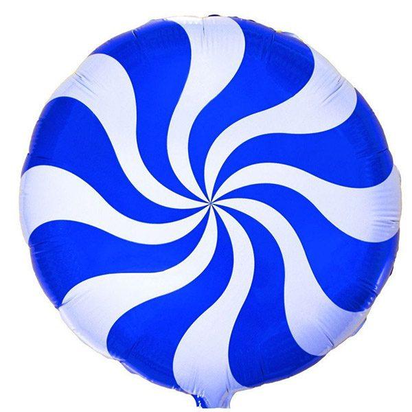 Фольгированный-шар-леденец-синий
