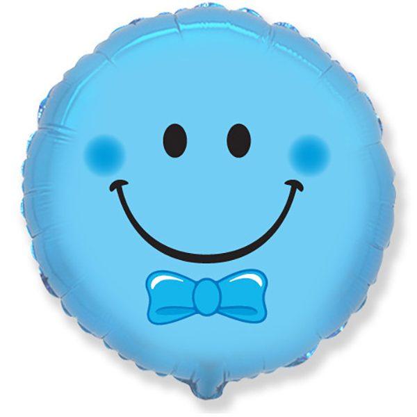 Фольгированный-шар-смайл-голубой