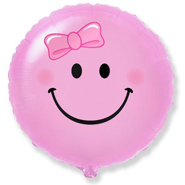 Фольгированный-шар-смайл-розовый
