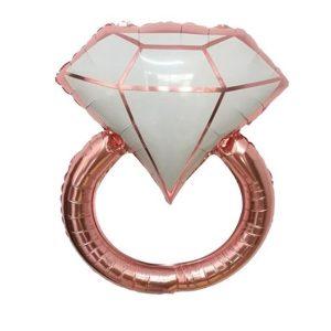 Фольгированны-шар-кольцо-розовое-золото