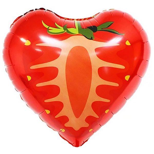 Воздушный-шар-сердце-клубника