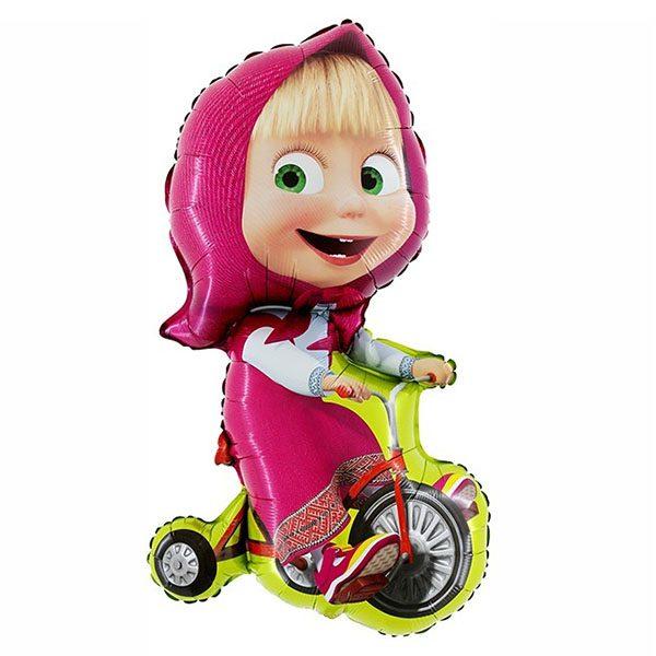 Фольгированный-шар-Маша-на-велосипеде